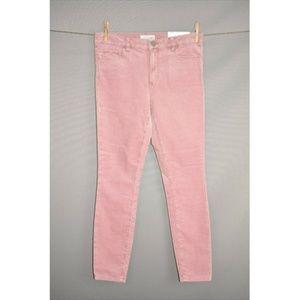 LOFT Pink Modern Skinny Corduroy Pant